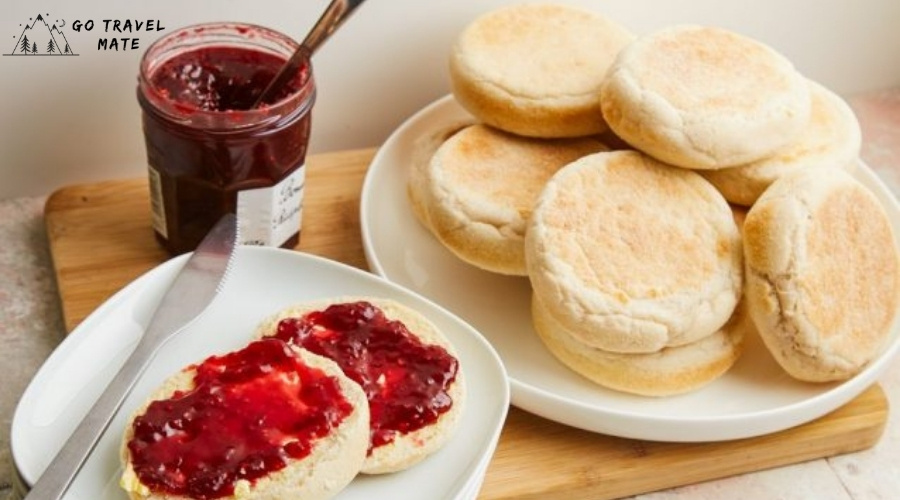 ENGLISH MUFFIN COUPLE IT WITH BUTTER & JAM