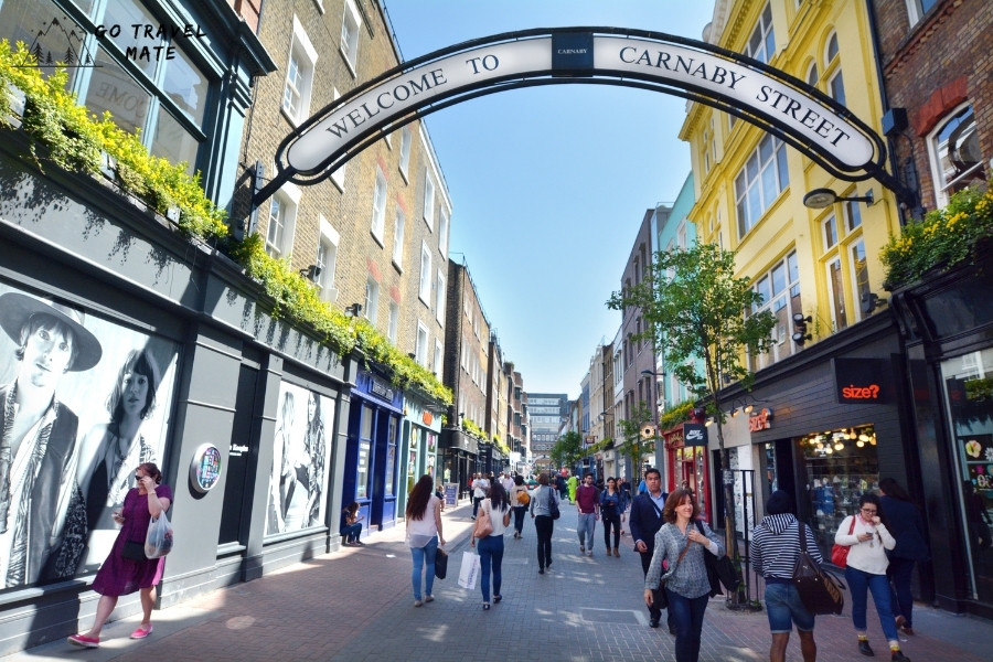 Carnaby Street: best streets of the UK